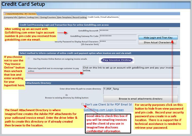 ImagineTime Integration Setup | gotoBIlling Inc Customer Hub